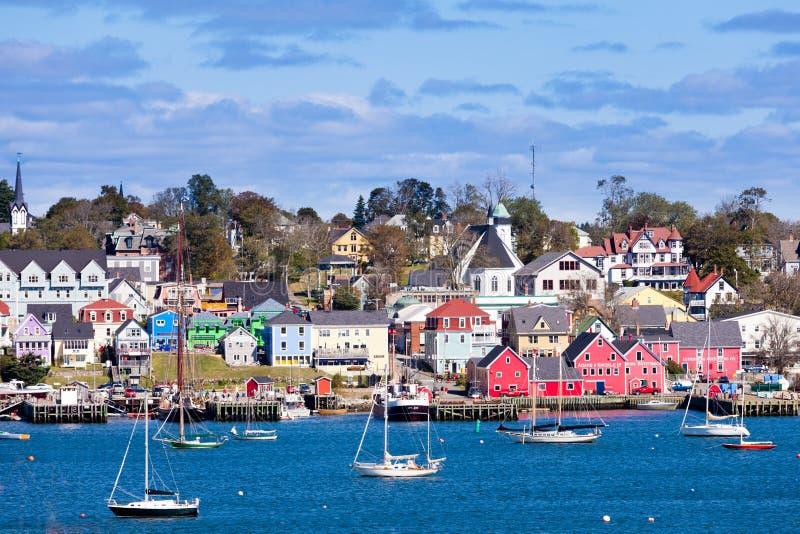 Historischer Lunenburg-Hafen Nova Scotia NS Kanada lizenzfreie stockbilder