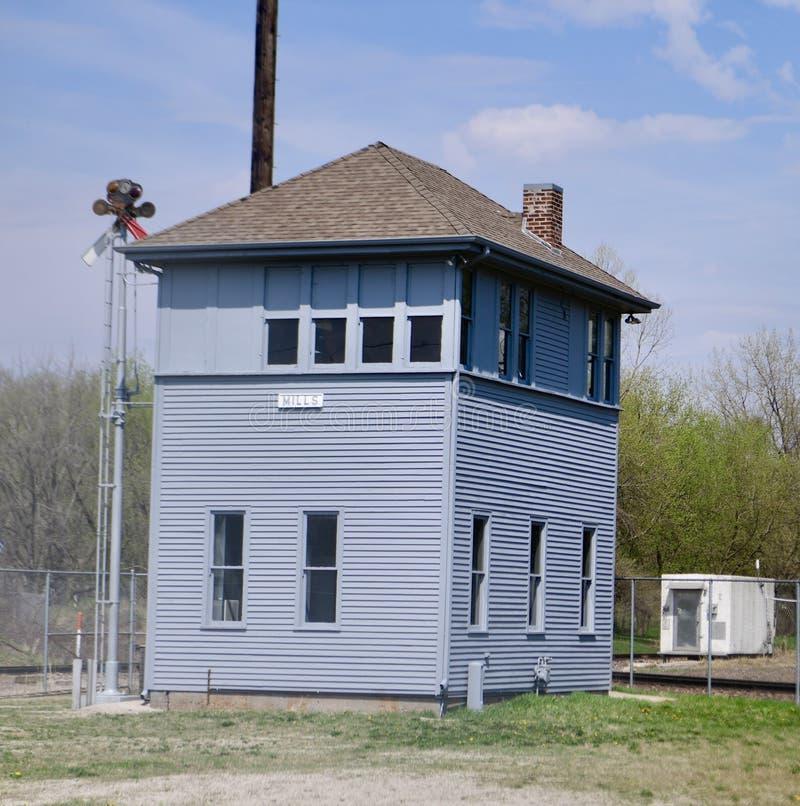 Historischer Mühlturm stockbilder