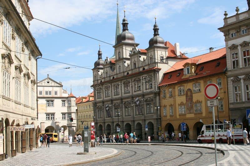 Historischer Mitteverkehr Prags stockbilder