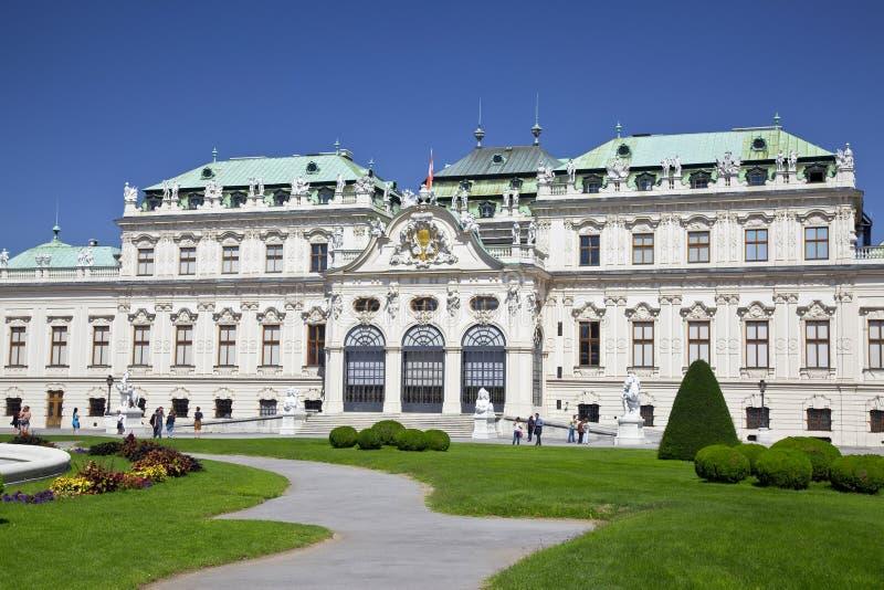 Historischer Palast oberer Belvedere, Wien, Österreich lizenzfreies stockfoto