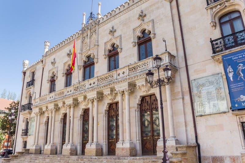 Historischer Palast Palacio de Capitania General in Burgos stockbilder