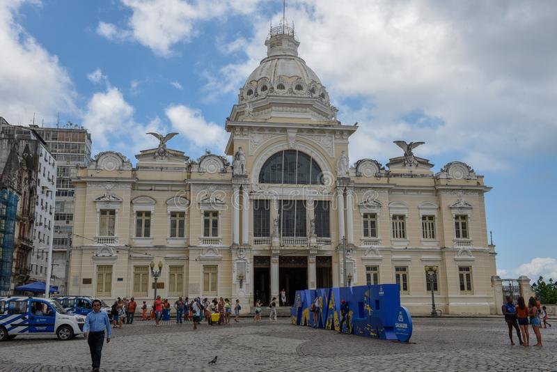 Historischer Palast Rio Brancos bei Salvador Bahia auf Brasilien stockfotos