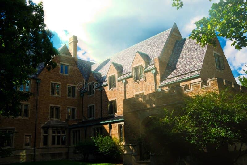 Historischer Ryan Hall, Notre Dame University lizenzfreies stockbild