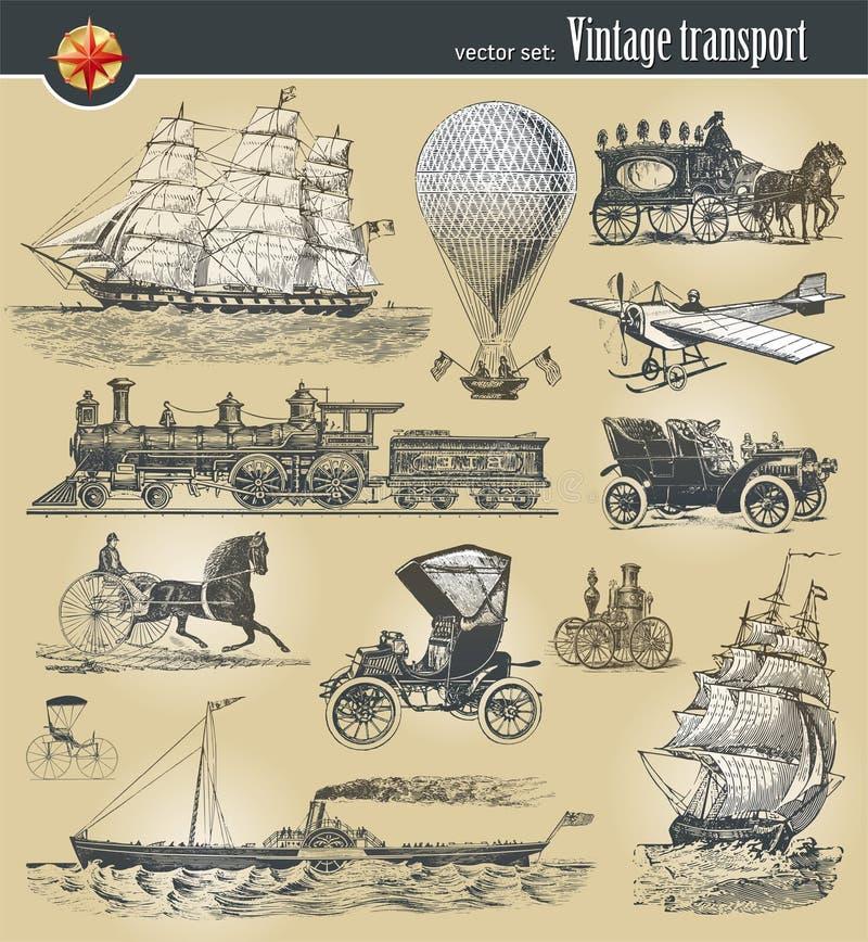 Historischer Transport der Weinlese lizenzfreie abbildung