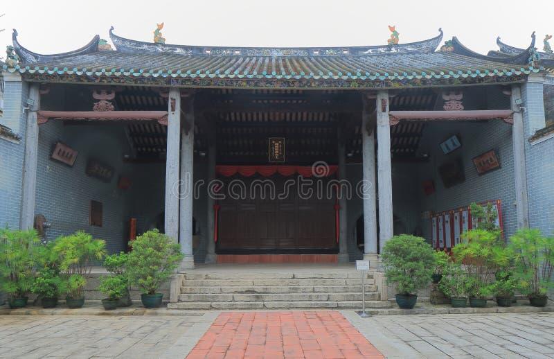 Historischer Turm Hong Kong Ping Shan Heritage Trails lizenzfreie stockfotografie