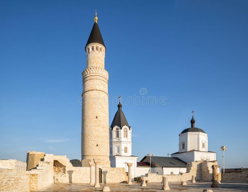 Historischer und archäologischer Komplex Bolgar stockbild