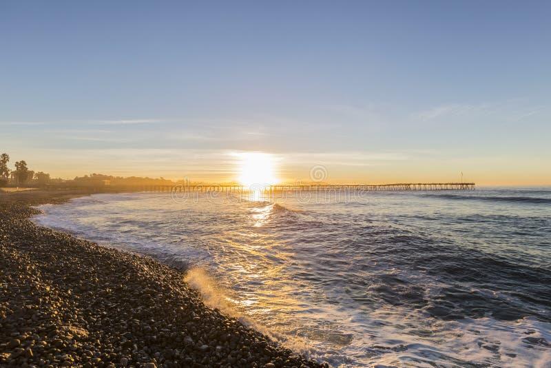 Historischer Ventura Pier Sunrise stockbilder