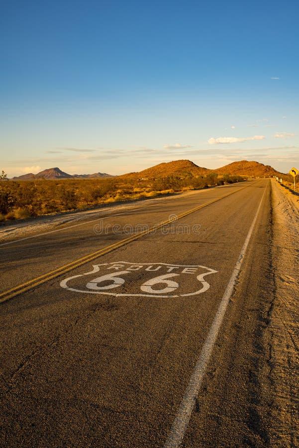 Historischer Weg 66 stockfotografie