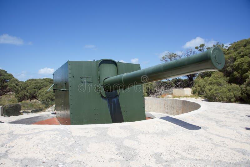 Historisches Armee-Gewehr: Rottnest-Insel lizenzfreies stockbild