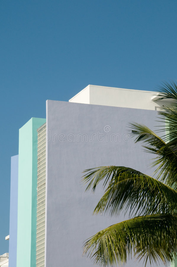 Historisches Art Deco - Miami, Florida lizenzfreie stockfotos