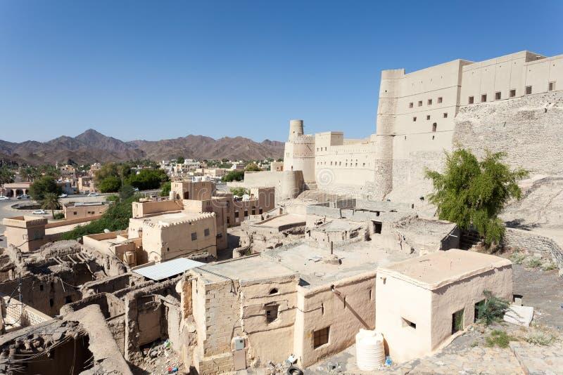 Historisches Bahla-Fort in Oman stockbild
