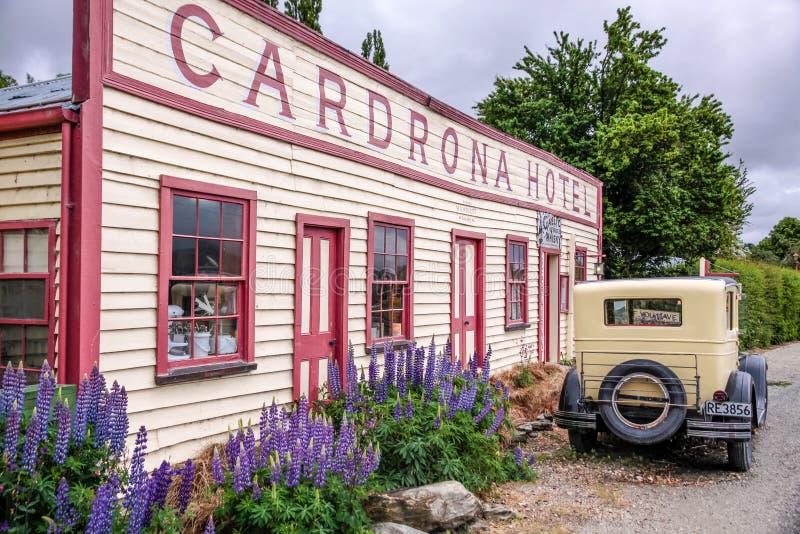 Historisches Cardrona-Hotel stockfoto