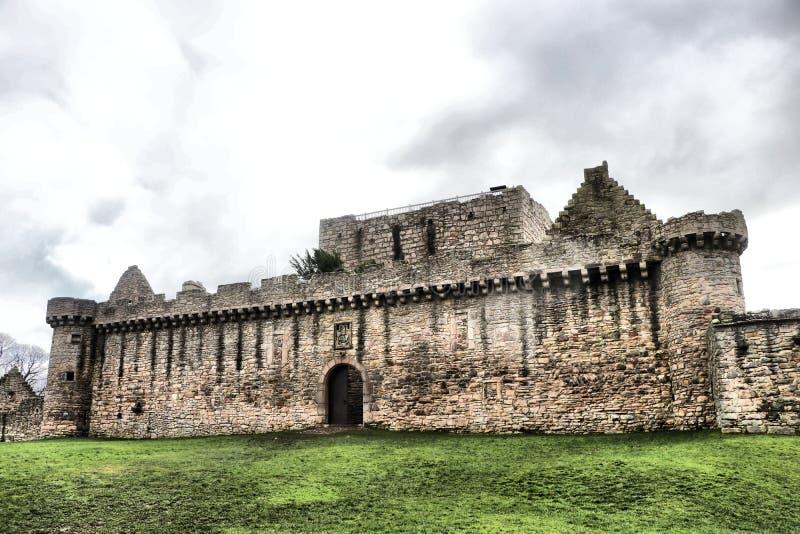 Historisches Craigmillar-Schloss, Edinburgh, Schottland stockfotos