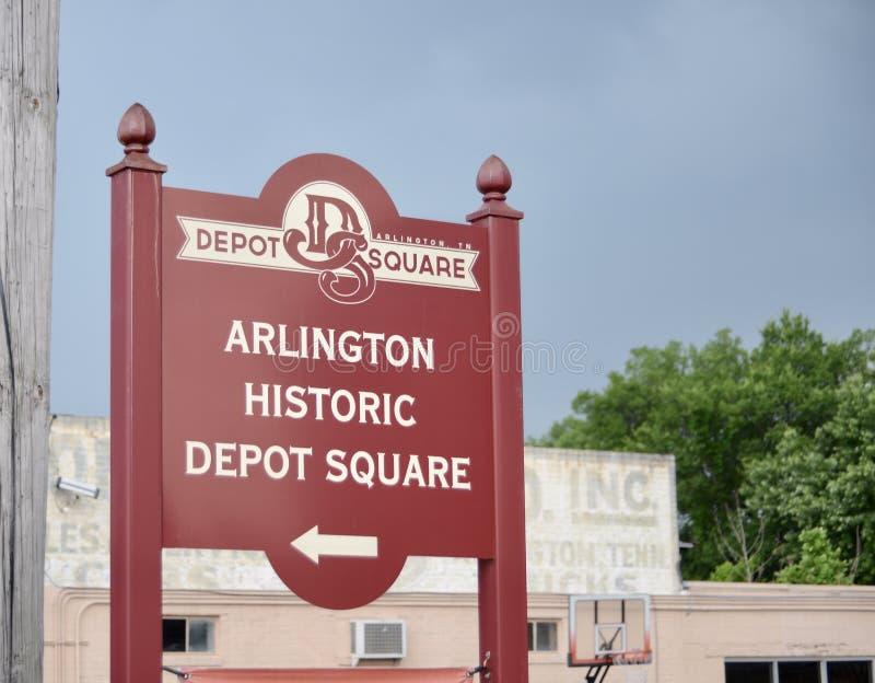 Historisches Depot-Quadrat Arlingtons stockbild