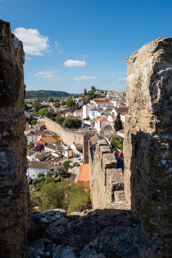 Historisches Dorf, Obidos stockbild