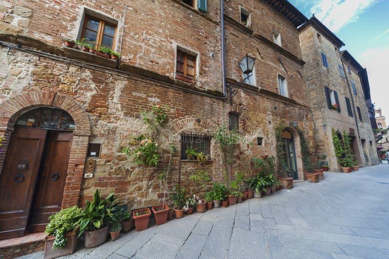 Historisches Dorf Pienza, Toskana, Italien lizenzfreie stockfotografie