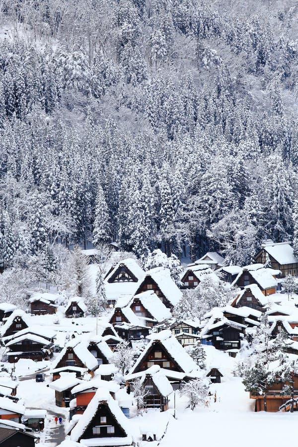 Historisches Dorf von Shirakawa-gehen stockbild