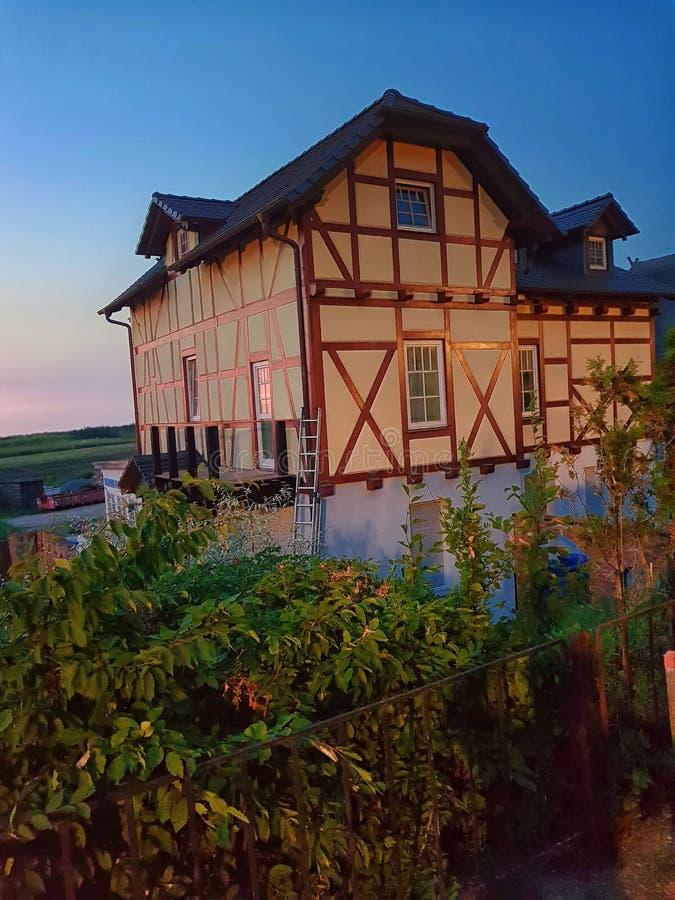 Historisches Fachwerkhaus stockbild