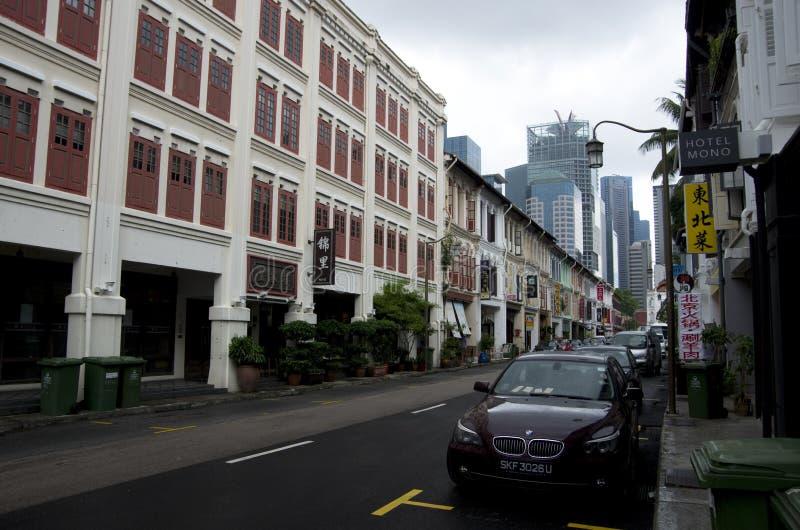 Historisches Gebäude Chinatowns Singapur lizenzfreie stockfotos