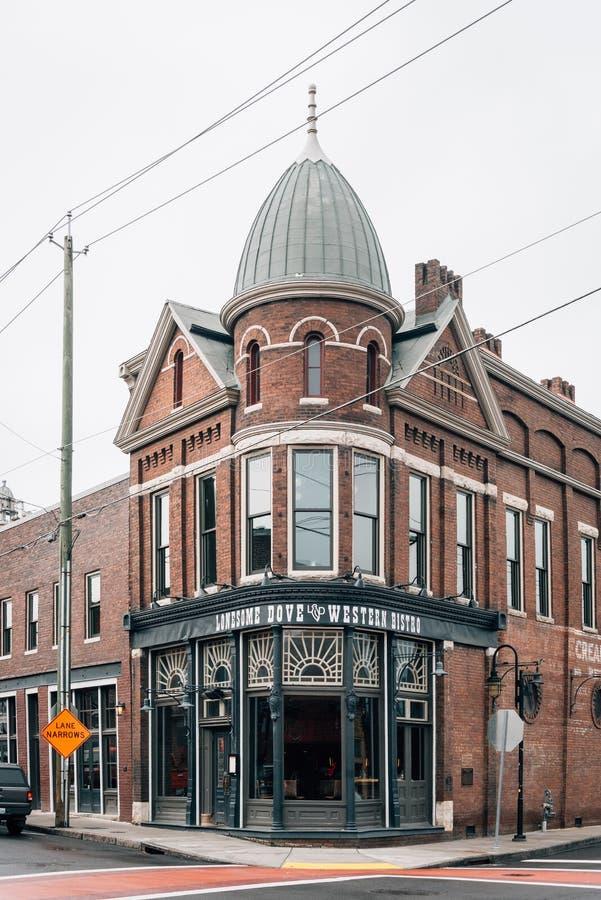 Historisches Gebäude in der alten Stadt, Knoxville, Tennessee lizenzfreie stockfotografie
