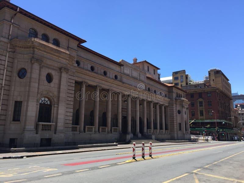 Historisches Gebäude der Gesetzgebung in Johannesburg lizenzfreie stockfotografie