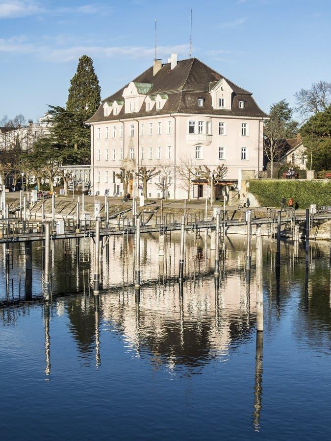 Historisches Gebäude Lindau stockbilder