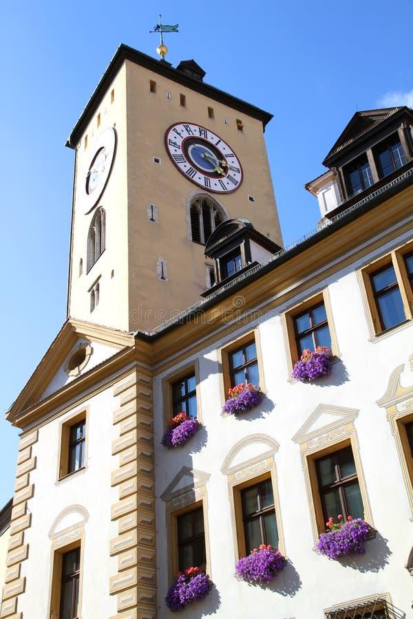 Historisches Gebäude in Regensburg stockfoto