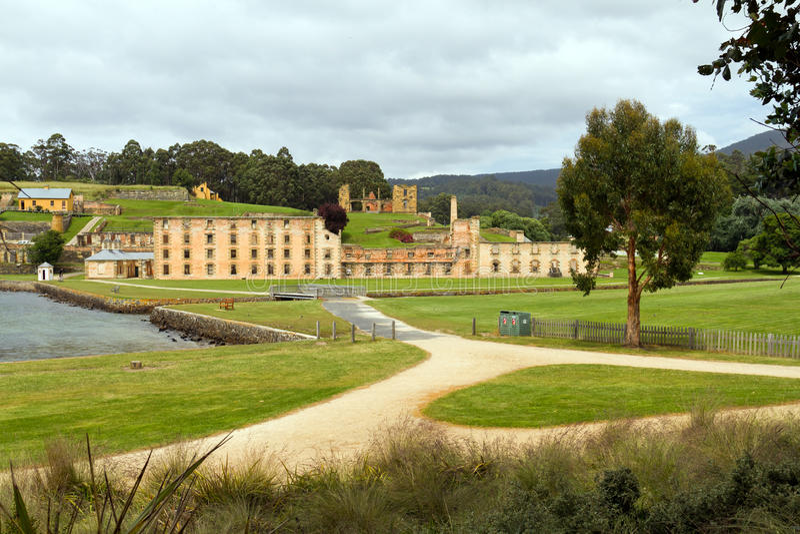 Historisches Gefängnis des Port Arthur in Tasmanien stockbild