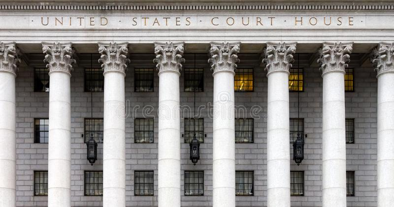 Historisches Gerichtsgebäude Vereinigter Staaten in New York City stockbilder
