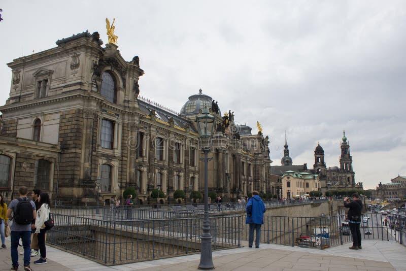 Historisches Herz der Stadt von Dresden lizenzfreie stockfotografie