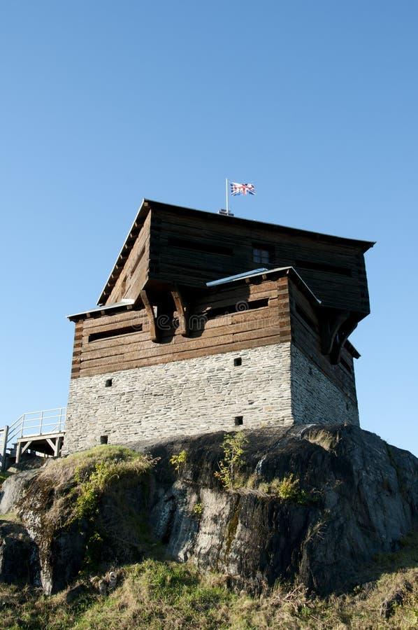 Historisches kleines Sault Blockhouse - Edmundston - New-Brunswick lizenzfreies stockbild