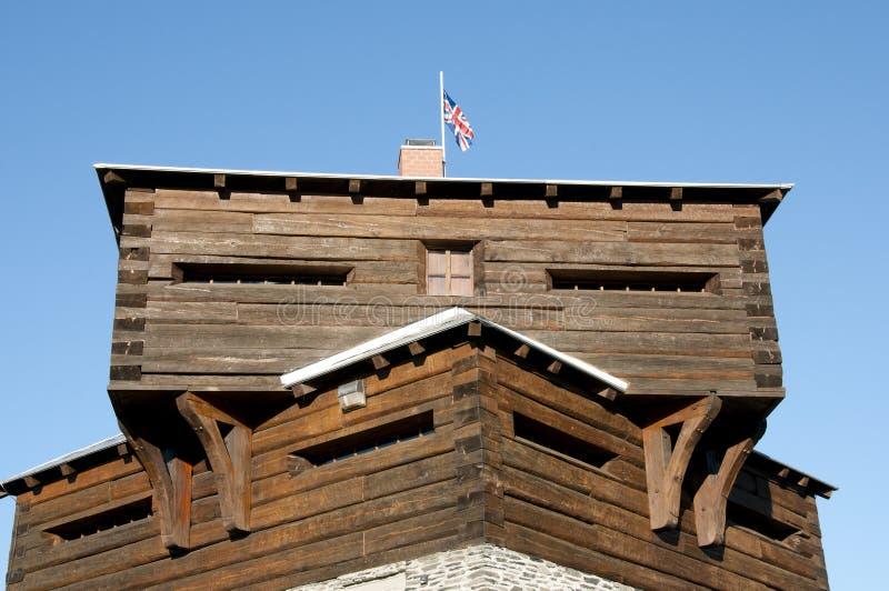 Historisches kleines Sault Blockhouse - Edmundston - New-Brunswick lizenzfreies stockfoto