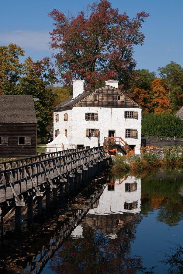 Historisches Landsitzhaus, Philipsburg Landsitz, NY lizenzfreie stockbilder