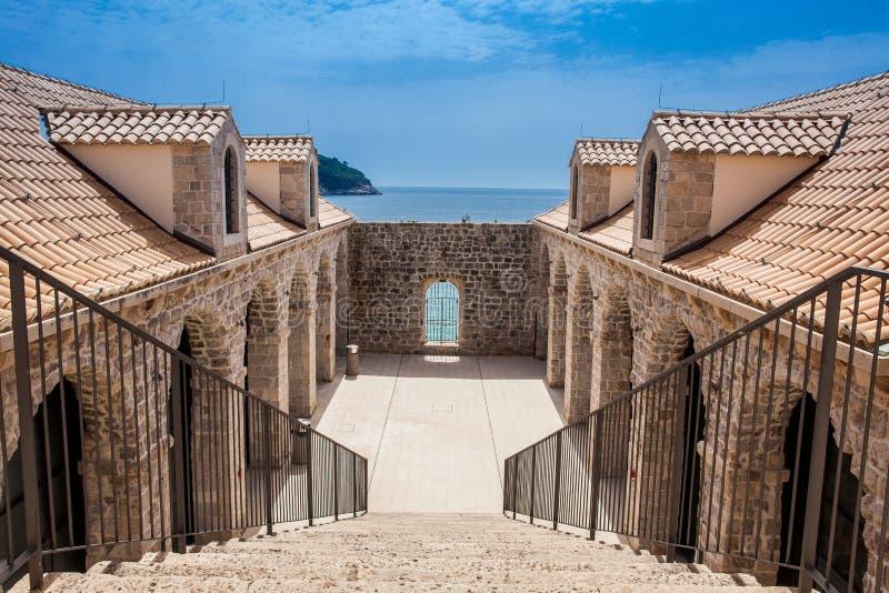 Historisches Lazzarettos von Dubrovnik errichtete 1642 lizenzfreies stockfoto