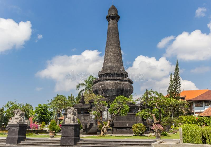 Historisches Monument Puputan Klungkung in Bangli stockfotografie