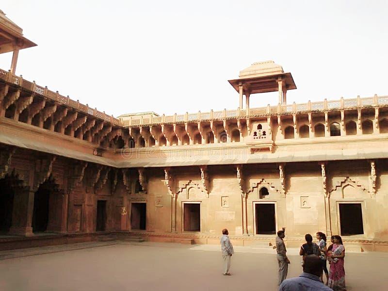 Historisches mugal Kaisermonument Agra-Forts lizenzfreies stockfoto