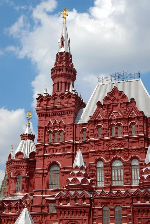 Historisches Museum auf rotem Quadrat in Moskau stockfotos