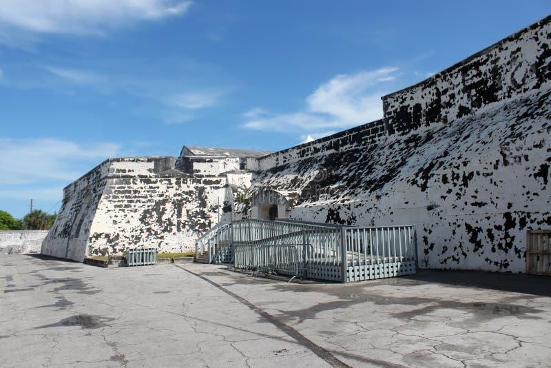 Historisches Nassau-Fort stockfotos
