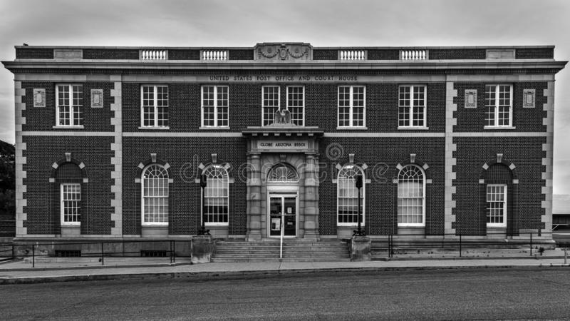 Historisches Postamt und Gerichtsgebäude Globe Arizona lizenzfreies stockfoto