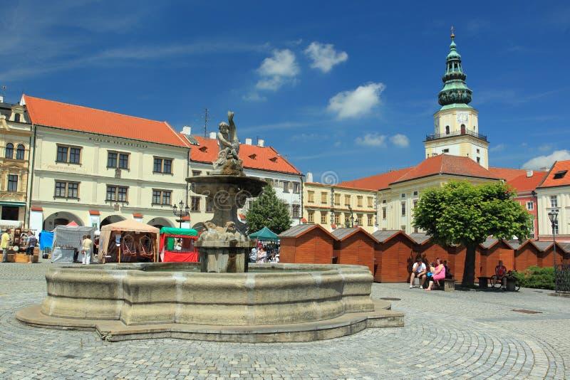 Historisches Quadrat in Kromeriz lizenzfreies stockbild
