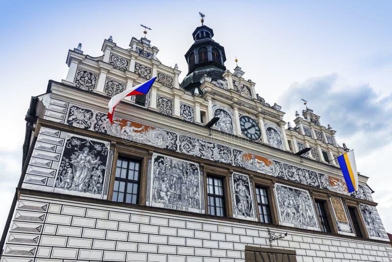 Stribro Tschechien historisches rathaus in stribro stockbild bild stadt himmel