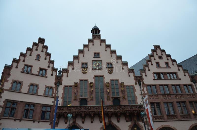 Historisches Romer-Quadrat in der Stadt von Frankfurt-Hauptleitung, Deutschland stockbilder