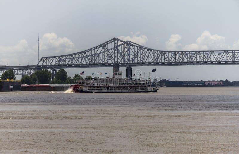 Historisches Schiff auf Mississippi, New Orleans stockfotografie