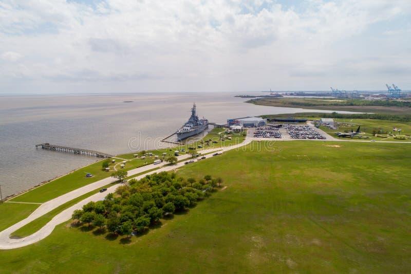Historisches Schlachtschiff Memorial Park USSs Alabama stockfotos