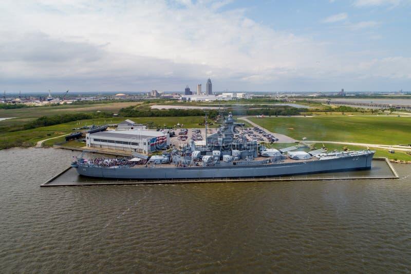 Historisches Schlachtschiff Memorial Park USSs Alabama lizenzfreie stockfotografie
