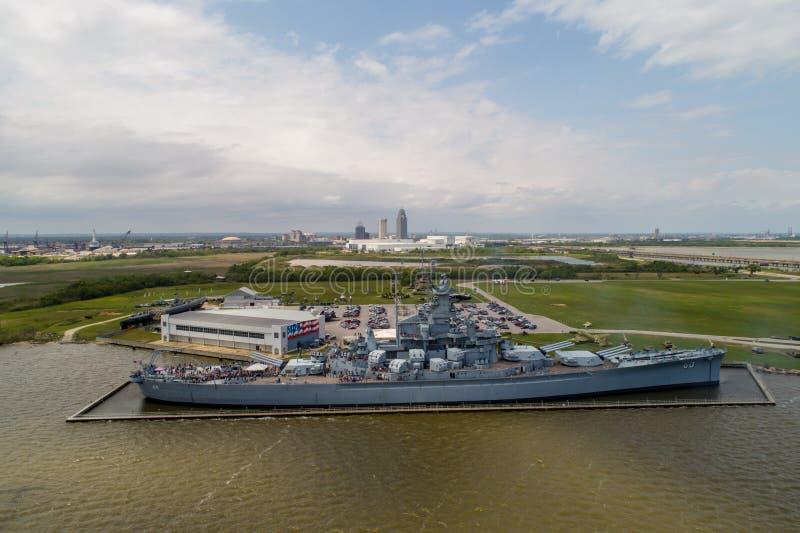 Historisches Schlachtschiff Memorial Park USSs Alabama lizenzfreie stockfotos