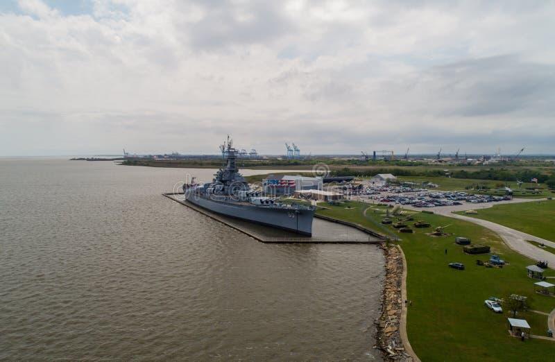 Historisches Schlachtschiff Memorial Park USSs Alabama stockfoto