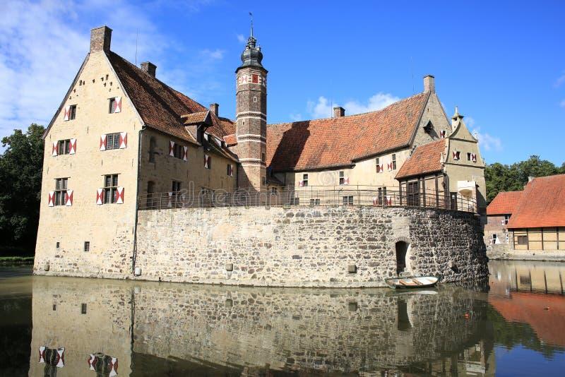 Historisches Schloss Vischering in Westfalen, Deutschland lizenzfreies stockbild