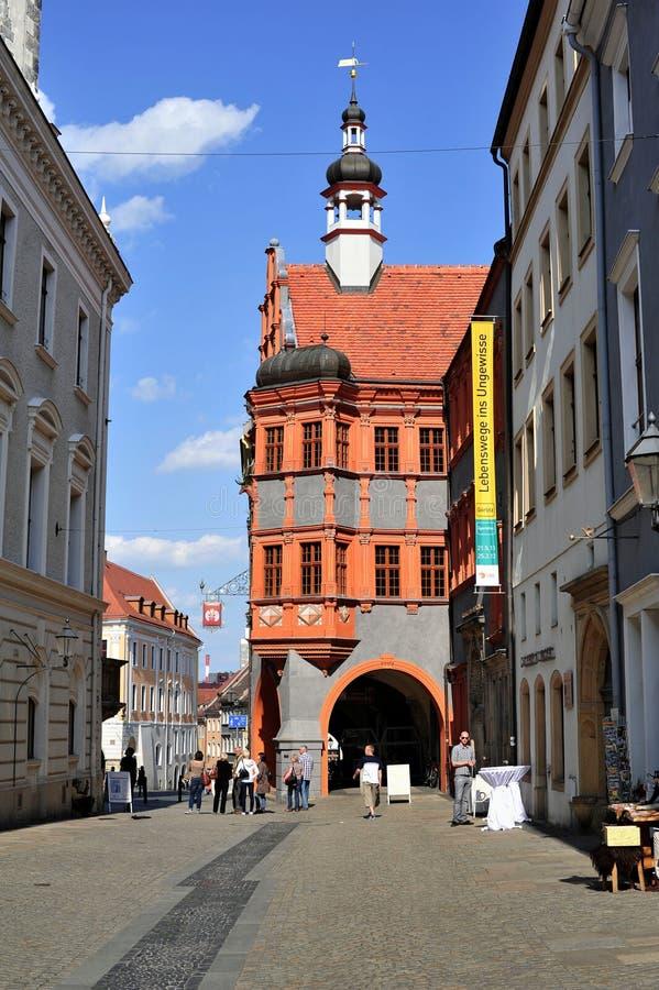 Historisches Stadtzentrum Gorlitz lizenzfreies stockbild