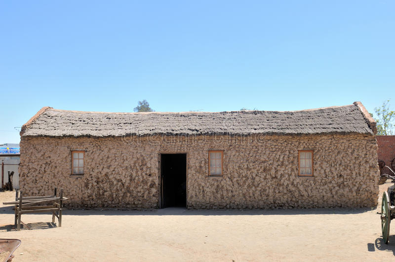 Historisches Steinhaus in Kimberley stockfotos